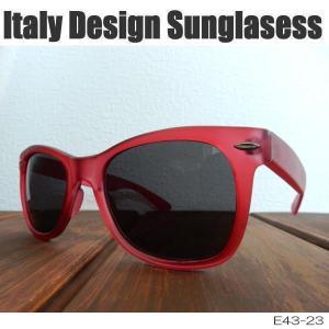 サングラス 赤縁メガネ 伊達めがね Italy Design イタリーデザイン E43-23/RD|coolbikers