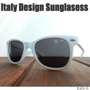 サングラス 白縁メガネ 伊達めがね Italy Design イタリーデザイン E43-3/WH|coolbikers