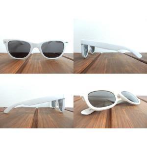 サングラス 白縁メガネ 伊達めがね Italy Design イタリーデザイン E43-3/WH|coolbikers|02
