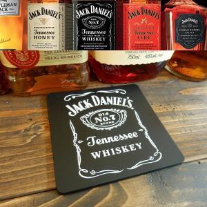 JACK DANIELS (ジャック・ダニエル) COASTER グラス置き/キッチン雑貨 ラバーコースター|coolbikers
