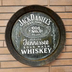 樽底壁掛け看板 JACK DANIEL'S ジャックダニエル 立体 ビンテージ アメリカン雑貨 ガレージ インテリア ウエルカムボード|coolbikers