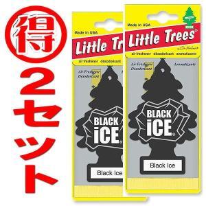 2枚 リトルツリー LittleTree エアフレッシュナー Black Ice 芳香剤 ブラックアイス|coolbikers