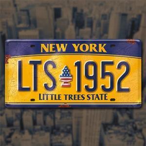 リトルツリー LittleTree ライセンス プレート ニューヨーク NEW YORK ビンテージ加工 エンボス NYC LT-PT-LP-003|coolbikers