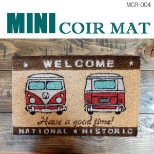 玄関マット ミニ コイヤーマット MINI-COIR-MAT アメリカン 雑貨 西海岸スタイル 屋外 室内 MCR-004|coolbikers