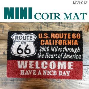 玄関マット ミニ コイヤーマット MINI-COIR-MAT アメリカン 雑貨 西海岸スタイル 屋外 室内 MCR-013|coolbikers