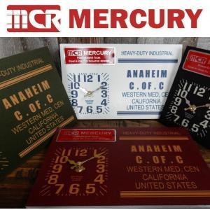 MERCURY マーキュリー 2WAY DESK CLOCK 時計 2WAY 壁掛け&卓上時計 アンティーク&ビンテージ加工|coolbikers