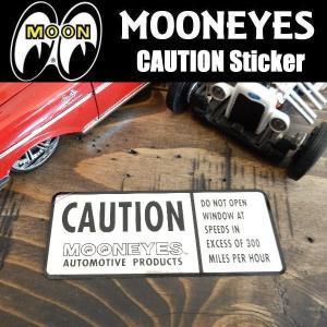 ムーンアイズ MOONEYES  CAUTION Sticker 危険 警告 ステッカー デカール DM165|coolbikers
