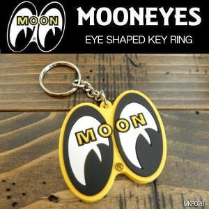 ムーンアイズ MOONEYES YELLOW EYE SHAPED KEY RING アイシェイプキーリング (MKR026)|coolbikers