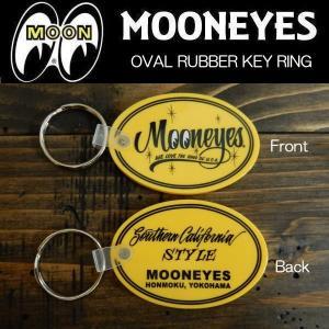 ムーンアイズ MOONEYES YELLOW KEY RING オーバルラバーキーリング (MKR120YE)|coolbikers