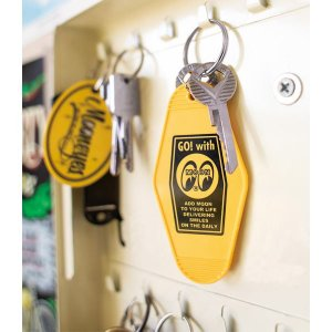 ムーンアイズ MOONEYES Hotel Key Tag ホテル キー タグ キーホルダー [MKR172YE]|coolbikers