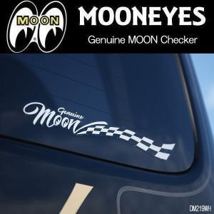 ムーンアイズ MOONEYES Genuine MOON Checker Sticker ジェニュイン ムーン チェッカー ステッカー DM219|coolbikers