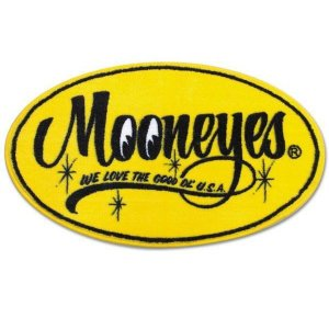 MOONEYES (ムーンアイズ) Floor Mats Yellow Oval フロアマット イエローオーバル MG458MO|coolbikers