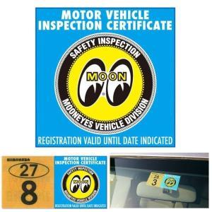 ムーンアイズ JCI ステッカー MOONEYES JCI Sticker-2  ( DM198 軽自動車用 )|coolbikers