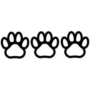 【送料無料】肉球 ステッカー 3枚セット 足跡 犬 猫 カー用品 カーアクセサリー 雑貨 自動車 カッティング 文字だけが残る 8色 coolbikers