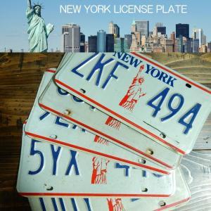 【本物】USED アメリカで実際に使われていたUSEDナンバープレート 自由の女神 NEW YORK LICENSE PLATE ニューヨーク州|coolbikers