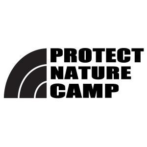 【送料無料】PROTECT NATURE 自然を守る CAMP キャンプ 文字だけが残る カッティングステッカー 8色|coolbikers