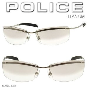 POLICE ポリス サングラス TITANIUM チタン 伝説ベッカムモデル 限定復刻 日本製 S8167J-583F|coolbikers