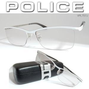 POLICE ポリス サングラス TITANIUM 高級メガネフレーム チタン製 VPL757J(スモークレンズ)|coolbikers