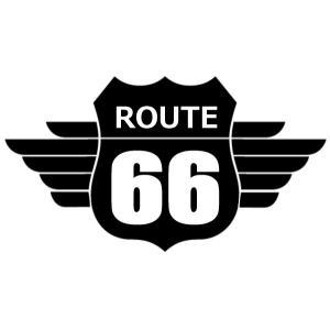【送料無料】ROUTE66 ルート66 ロゴ シール ステッカー カッティング 文字だけが残る カラー8種|coolbikers