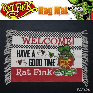 Rat Fink ラットフィンク ラグマット フロアーマット MAT 玄関 WELCOME RAF424|coolbikers