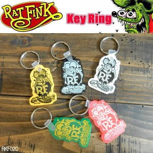Rat Fink ラットフィンク ソフトラバー キーホルダー key ring RKF020|coolbikers