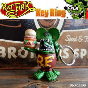 Rat Fink ラットフィンク レジンキーチェーン キーホルダー key ring RKF024RF|coolbikers