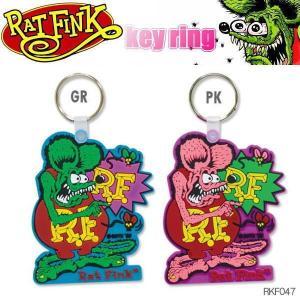 Rat Fink ラットフィンク ソフトラバー キーホルダー key ring ポインティング RKF047 coolbikers