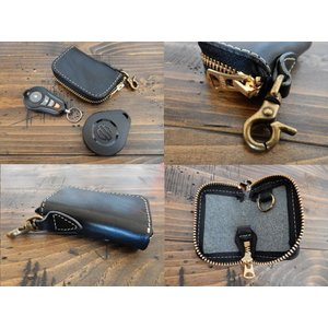 【4色】令和元年 特別セール リモコンキーケース 栃木レザー スマートキー Smart key 本革 日本製 ナスカン付 COOLBIKERS クールバイカーズ Remote key case|coolbikers|08