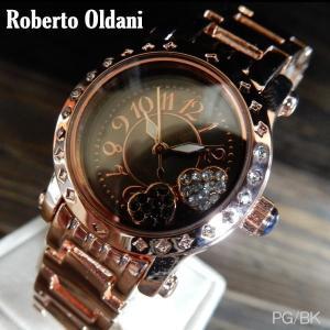 腕時計 Roberto Oldani ロベルトオルダーニ 女性用 レディースウォッチ PG/BK|coolbikers