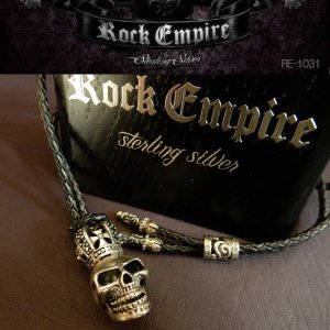 ROCK EMPIRE ロックエンパイア ペンダント ネックレス レザー シルバー925 RE-1031|coolbikers
