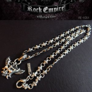 ROCK EMPIRE ロックエンパイア ペンダント ネックレス クロス&翼 シルバー925 RE-1051|coolbikers