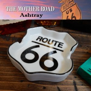 Route66 アシュトレイ ロードサイン シェイプ THE MOTHER ROAD 灰皿 IQOS(アイコス)にも WH|coolbikers