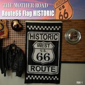 リアル・フラッグ 旗 Route66 Flag ルート66 タペストリー アメリカン雑貨 ガレージ インテリア R66-1|coolbikers