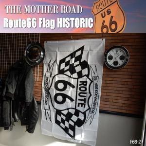 リアル・フラッグ 旗 Route66 Flag ルート66 タペストリー アメリカン雑貨 ガレージ インテリア R66-2|coolbikers