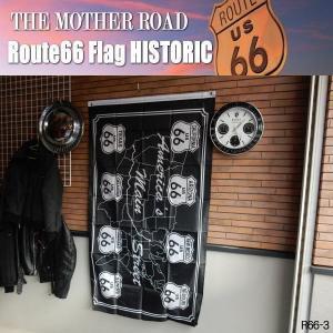 リアル・フラッグ 旗 Route66 Flag ルート66 タペストリー アメリカン雑貨 ガレージ インテリア R66-3|coolbikers