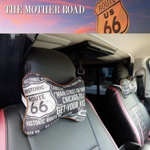 ROUTE66 ルート66 ネッククッション 2P入り  [ 車 インテリア アメリカン雑貨 ]|coolbikers