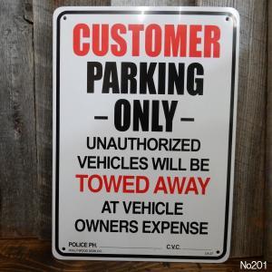 プラスティック看板 Plastic Sign Board (CA-27お客様専用駐車場) アメリカから直輸入(No201)|coolbikers