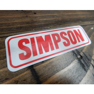 SIMPSON シンプソン ロゴ ヘルメット レーシングステッカー 世田谷ベース|coolbikers