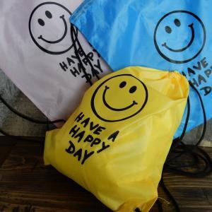 SMILE スマイル KNAP SACK ナップサック リュック イエロー/ブルー/ピンク/グリーン/ライトブルー/ブラック|coolbikers