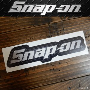 Snap On スナップオン DECALS ステッカー デカール シール Chrome Logo Decal|coolbikers