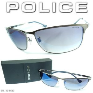 POLICE ポリス サングラス スクエア ブルーミラーグラデーション SPL146I-568B|coolbikers