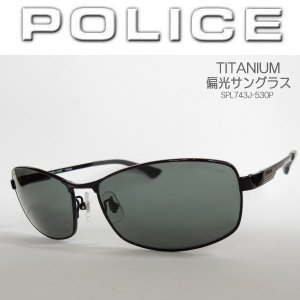 ポリス POLICE 偏光サングラス チタン製 TITANIUM ジャパン・フィッティング SPL743J-530P|coolbikers