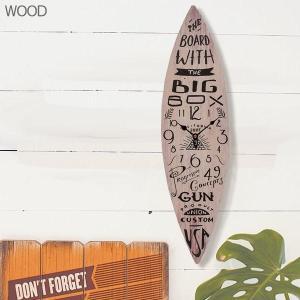 サーフボード ウォールクロック/壁掛け時計 サーフィン surfing サーファー「SURF BOARD/ウッド」|coolbikers