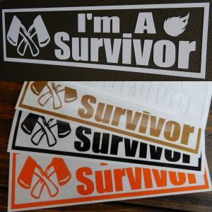 【送料無料】 Survivor サバイバル人 アウトドア キャンプ 文字だけが残る カッティングステ...
