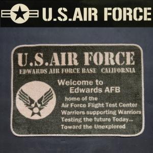 キッチンマット インテリア 玄関 マット SHORT KITCHEN MAT United States Air Force USAF ミリタリー|coolbikers