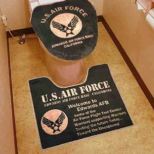 United States Air Force USAF ミリタリー ウォシュレットタイプ対応 トイレマットセット|coolbikers