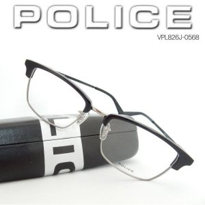 POLICE ポリス 眼鏡フレーム メガネ クラブマスター ブラック VPL826J-0568|coolbikers