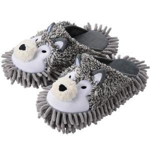 スリッパ Slippers マイクロファイバーモップスリッパ お掃除できる WOLF 狼 オオカミ coolbikers
