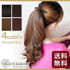ウイッグ 耐熱 ポニーテールウィッグ ポイントウィッグ ロング つけ毛 エクステ / 長さ45cm ロング ボブ 自然 通販 セミロング 送料無料