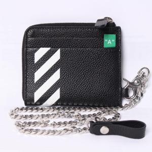 63a89d24f655 オフホワイト コインケース(Off-White)ブラック ミニ財布 ストライプ [全国送料無料!]r013434